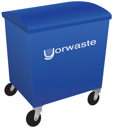 660 litre yorwaste container