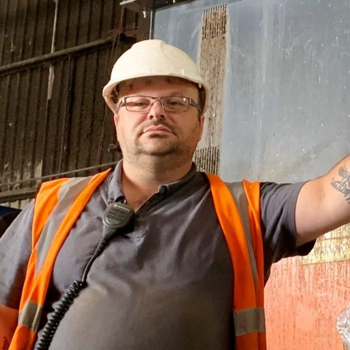 Ed Wilson MRF Supervisor at Yorwaste