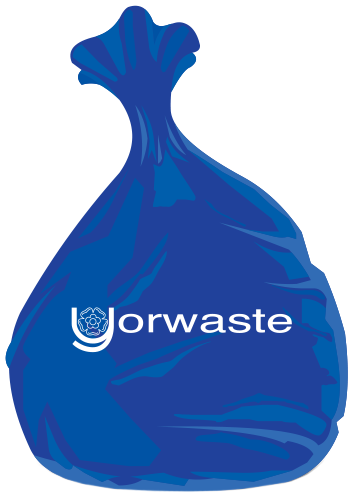Blue waste bin bag