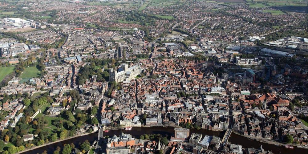 York aerial landscape