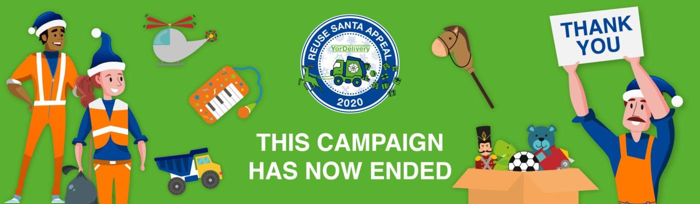 Yorwaste commercial waste management reuse Santa appeal banner